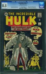 Incredible Hulk #1 8.5 $55,000 Mar 2011