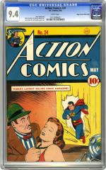 Action Comics #24 (Sold for $19,550 in Oct 2005)