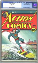 Action Comics #25 (Sold for $34,500 6/12/2002)