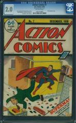 Action Comics #7 2.0 $71,000 (Guided at $18,000) Feb 2016