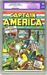 Captain America Comics #1 (Sold for $64,400 in Feb 2004)