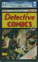 Detective Comics #18 $6,050 (Guided at $4,800) Feb 2016