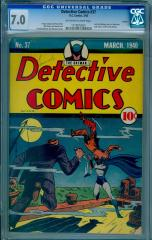 Detective Comics #37 (offered for sale at $50,000 May 2017)