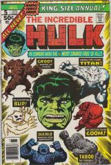 Incredible Hulk Annual #5 - 2nd appearance of Groot