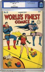 World's Finest #18 (Sold for $8,711.25 in Aug 2004)