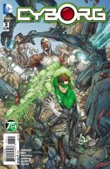 CYBORG (1ST SERIES): 3 Kenneth Rocafort Green Lantern 75th Anniversary Variant Cover